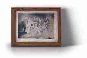 imagen de un cuadro con una familia Asti traducción