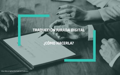 Traducciones juradas digitales