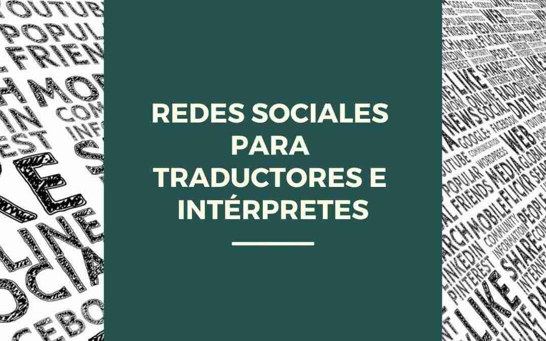 redes sociales para traductores