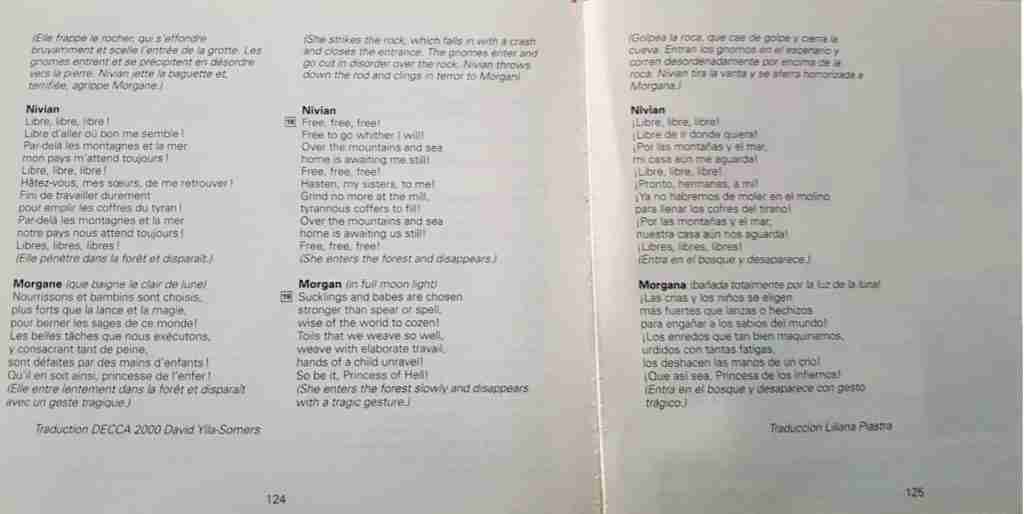 Libreto traducido por Liliana Piastra