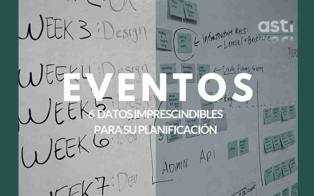planificación de eventos: tablero con días