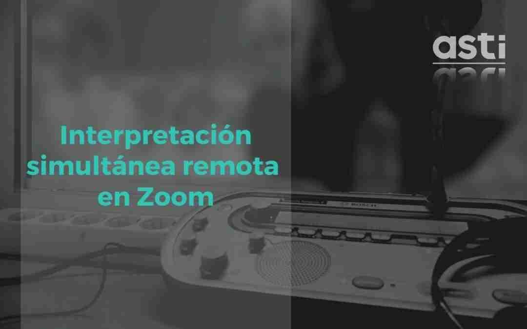 Traducción simultánea de una reunión de Zoom