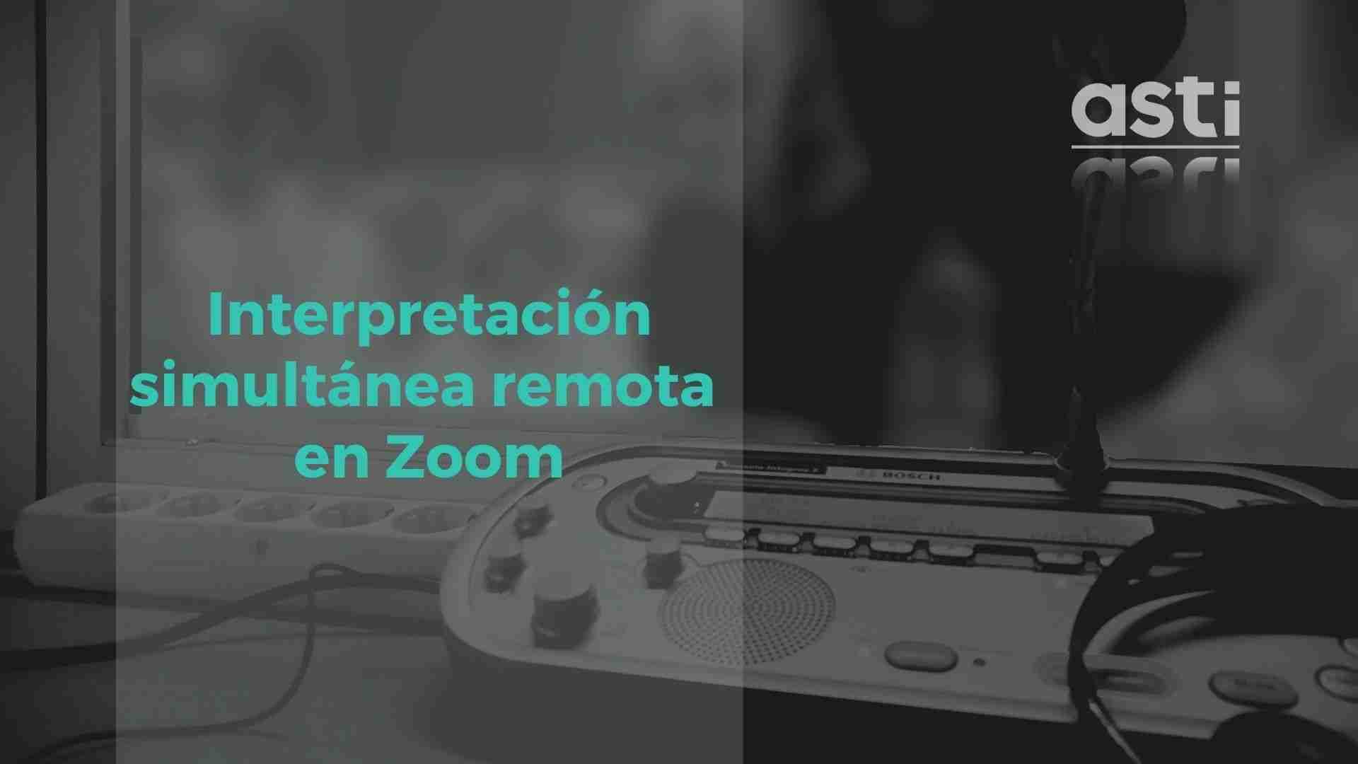 Interpretación simultánea remota en zoom