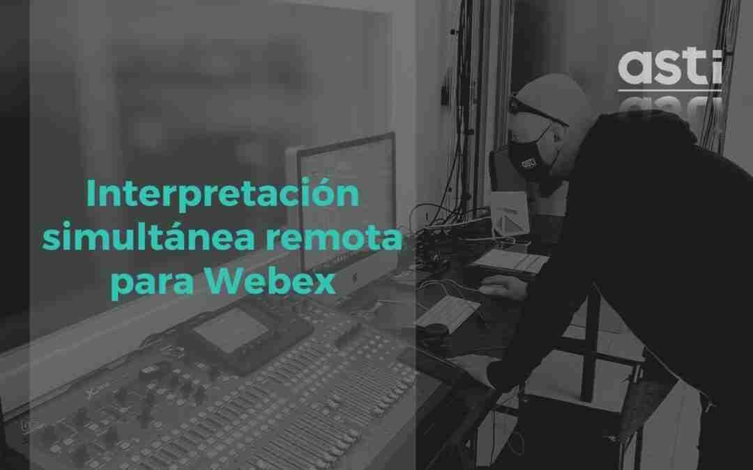 Traducción simultánea remota para webex